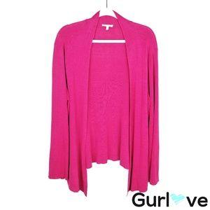 Eileen Fishe Pink Linen Open Cardigan Size 1X